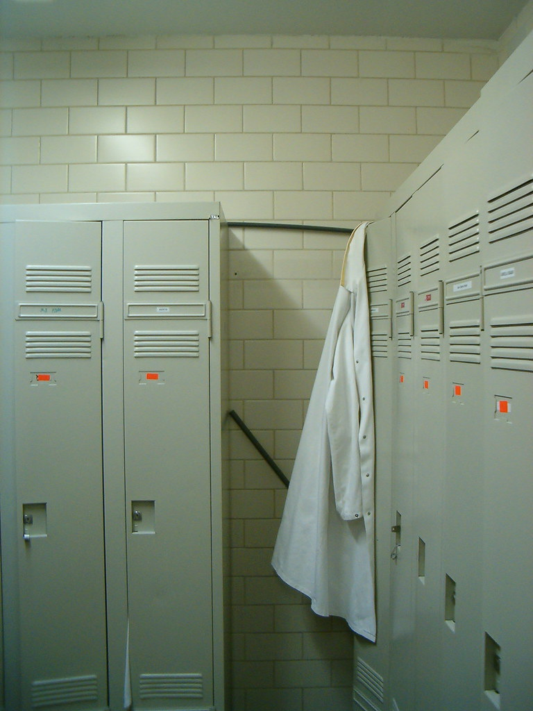 Locker Room With Lonely Lab Coat Jean Etienne Minh Duy