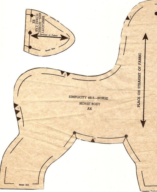 retro plush horse pattern1   This is the retro horse ...