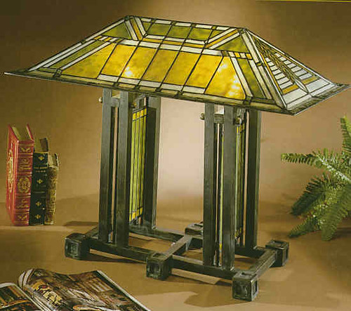Frank Lloyd Wright Stained Glass Lamp