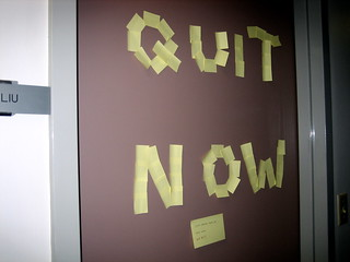 Quit Now | by fuzzcat