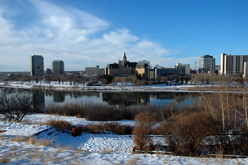 Saskatoon in the winter   taken Dec 26 2005 on a very mild ...