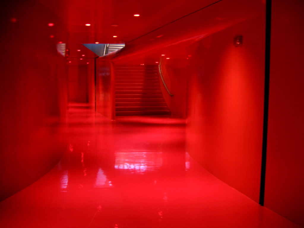 Red Room Creepy Red Room At The Seattle Central Library