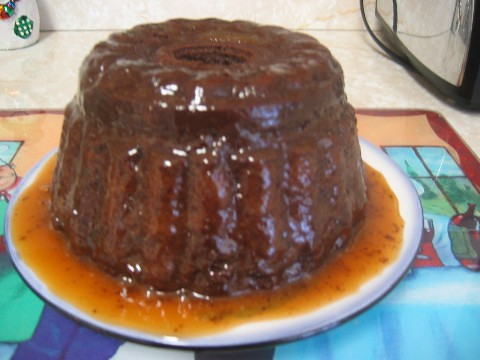 Steamed Chocolate Pudding with Caramel Sauce | So I used my ...