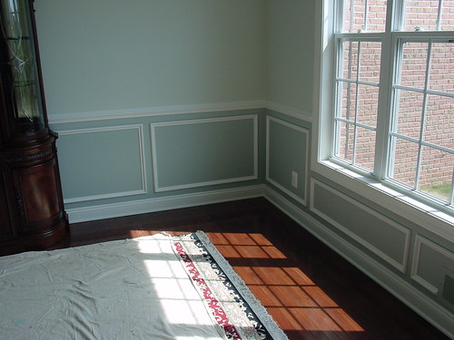 Wainscoting dining room doherty painting flickr for Dining room painting ideas with wainscoting