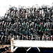 triply stacked bicycles