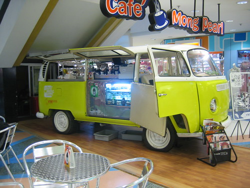VW Kombi being used as coffee shop in Central Airport Plaza | by lloydi
