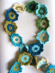 Crocheted Flower Scarf | by Green Kitchen