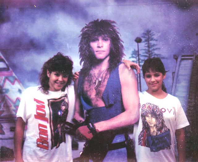 Bon Jovi groupies   Me and my best friend, Shelly. 1987 ...