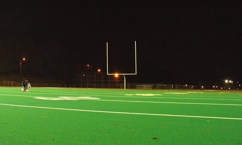 wpi football field at night | WPI football field, across ...