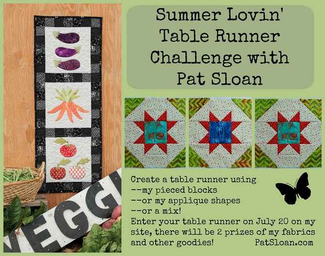 pat sloan summer lovin table runner challenge