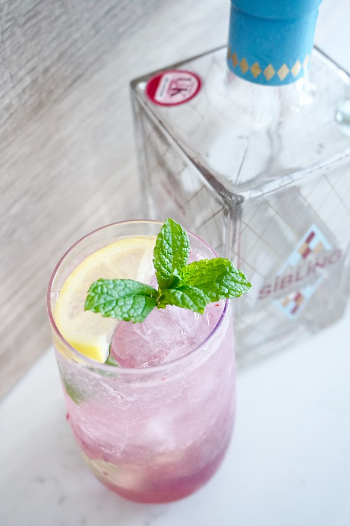 raspberry gin fizz cocktail cocktails lemon mint