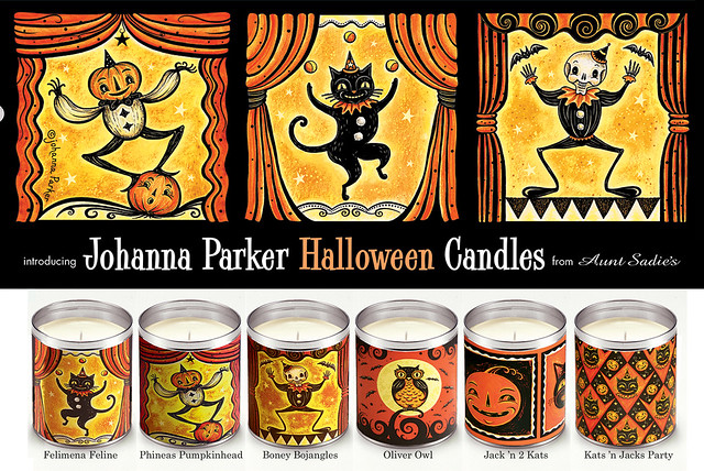 Johanna Parker Aunt Sadie's Candles for Halloween