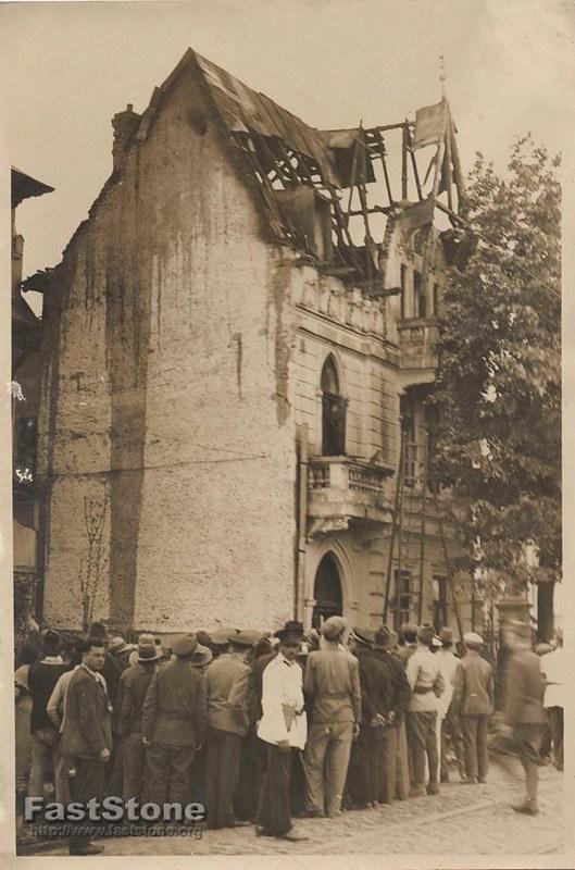 Bucuresti - Incendiu str. Independentei, anii 1930