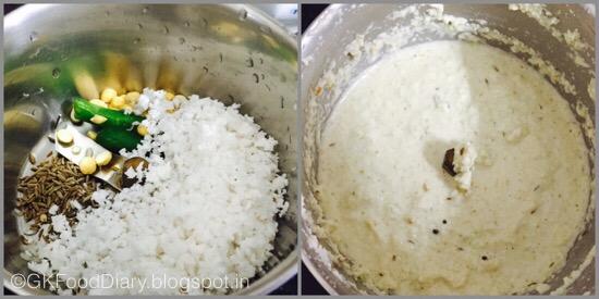 Cabbage Kootu - preparation step 1