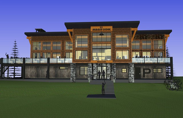 New lodge at Schweitzer Mt.