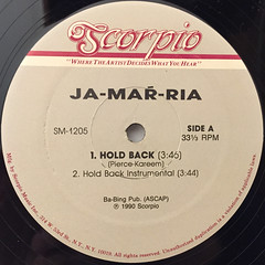 JA-MAR-RIA:HOLD BACK(LABEL SIDE-A)