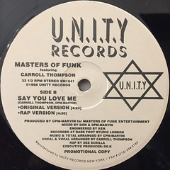 MASTERS OF FUNK:OOH BOY(LABEL SIDE-B)