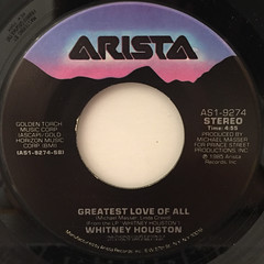 WHITNEY HOUSTON:YOU GIVE GOOD LOVE(LABEL SIDE-B)