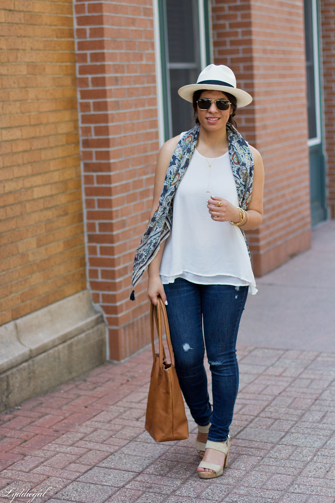 white tank, distressed denim, panama hat, leather tote-2.jpg