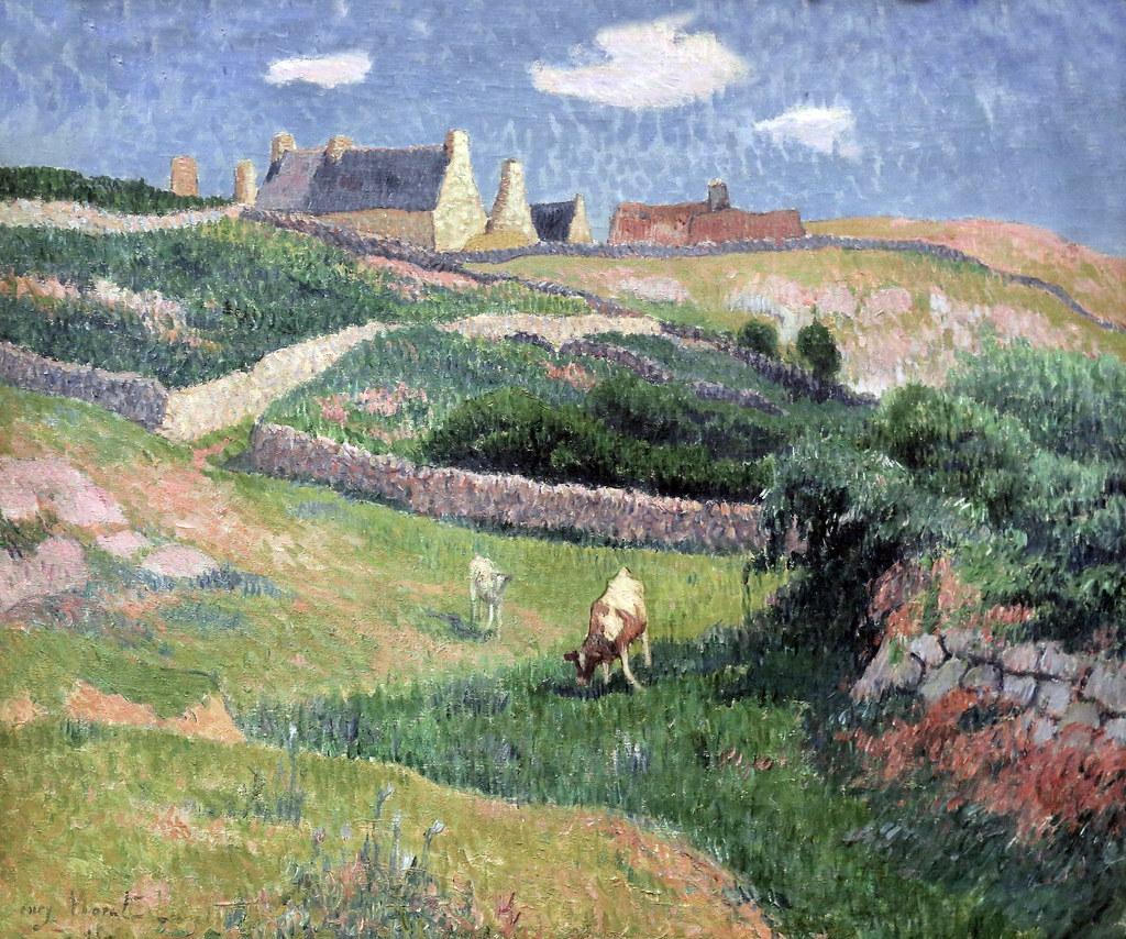 IMG_7137 Henri Moret. 1816-1913. Paysage Breton. île de Gr ... Landscape