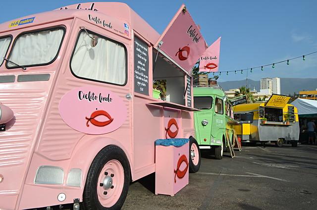 Food trucks, Phe Festival, Puerto de la Cruz, Tenerife