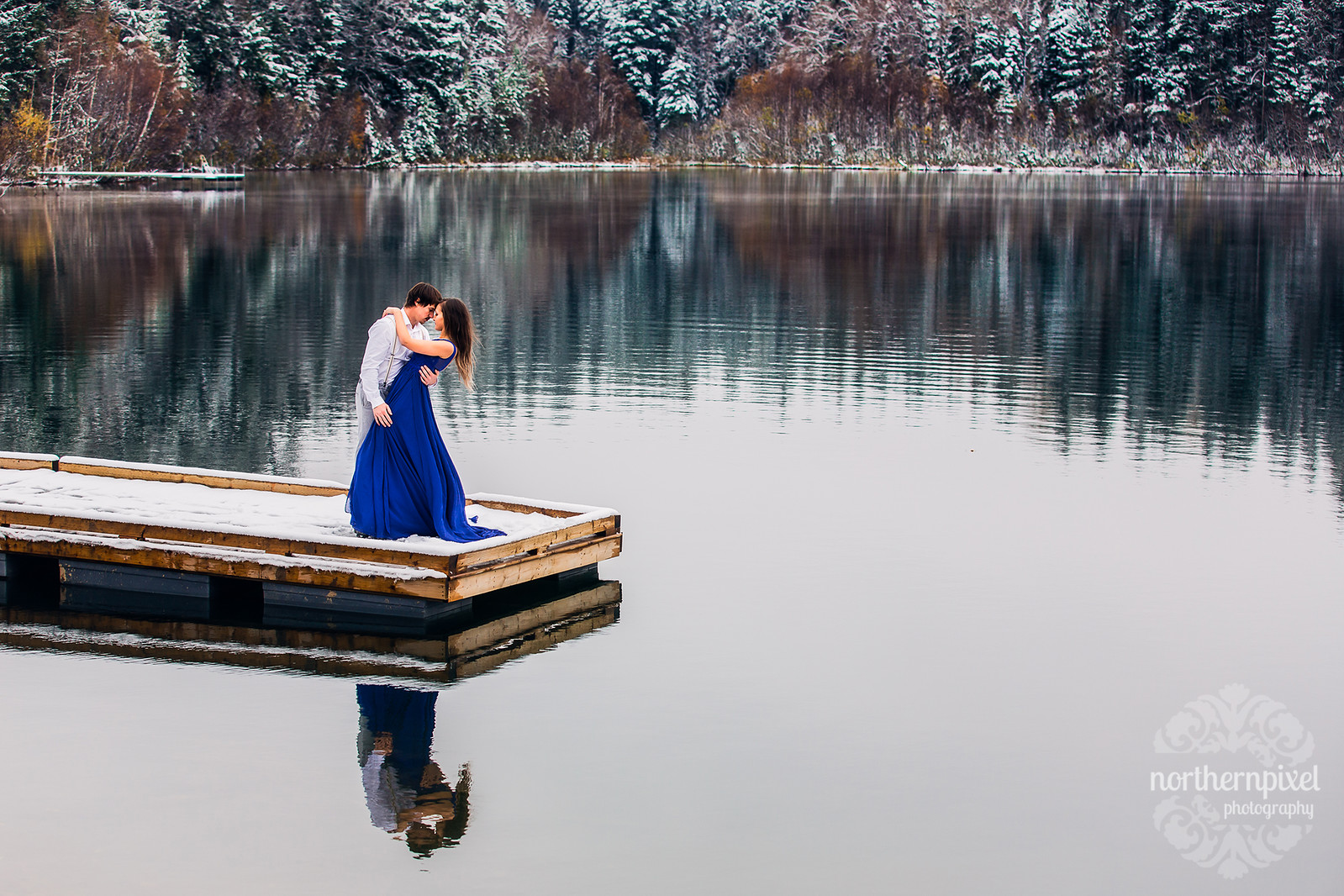 Romantic Winter Engagement Session Prince George British Columbia Wedding Photographers
