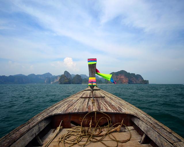 Llegando a Poda Island