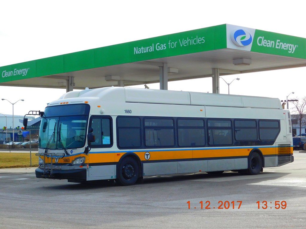 Mbta 2016 New Flyer Xn40 Cng 1660 Refueling At Bwi