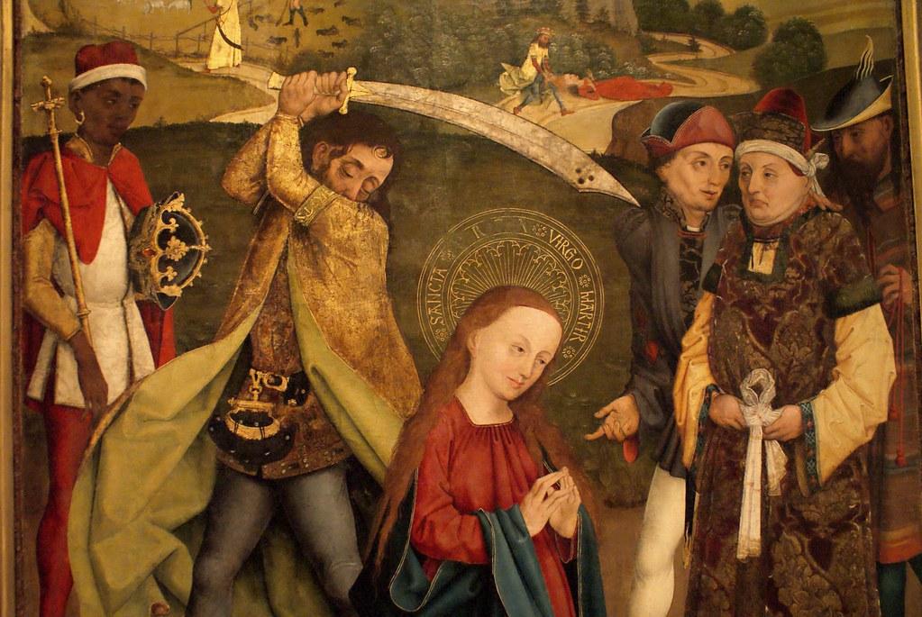 Décapitation de Sainte Marguerite (?) dans le musée Saint Agnès à Prague.