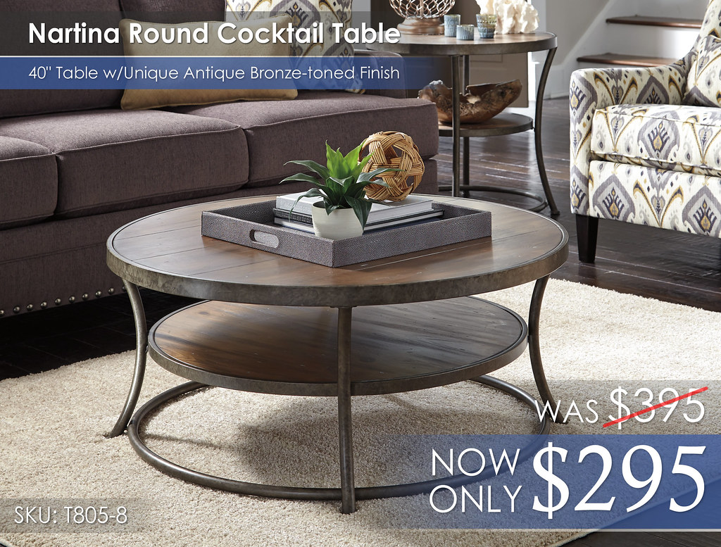 Nartina Round Cocktail Table T805-8