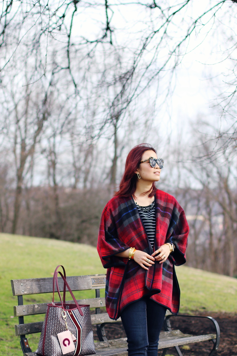 stripe-shirt-plaid-poncho-burgundy-accessories-7