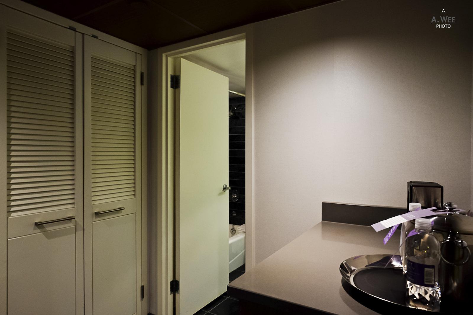 Foyer and closet