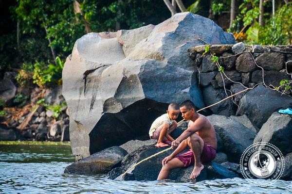 Locals fishing at Islets Granada Nicaragua