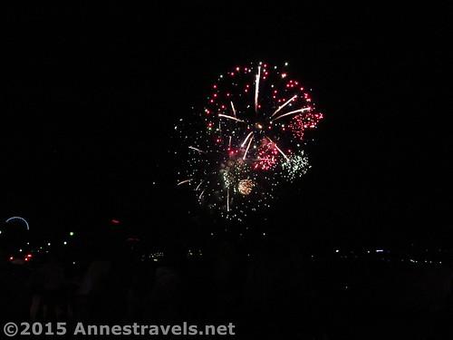 Fireworks over Niagara Gorge, Niagara Falls, Canada