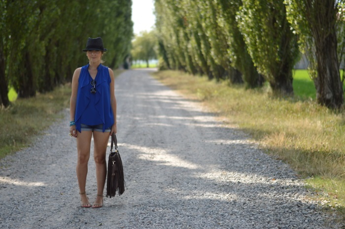 blue, wildflower girl, fashion blog, mamared bag, shorts (1)