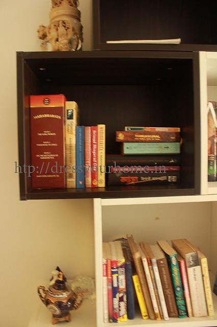 customized large modular book shelf