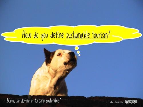 How do you define sustainable tourism? = ¿Cómo se define el turismo sostenible? #IY17 #RoofDog