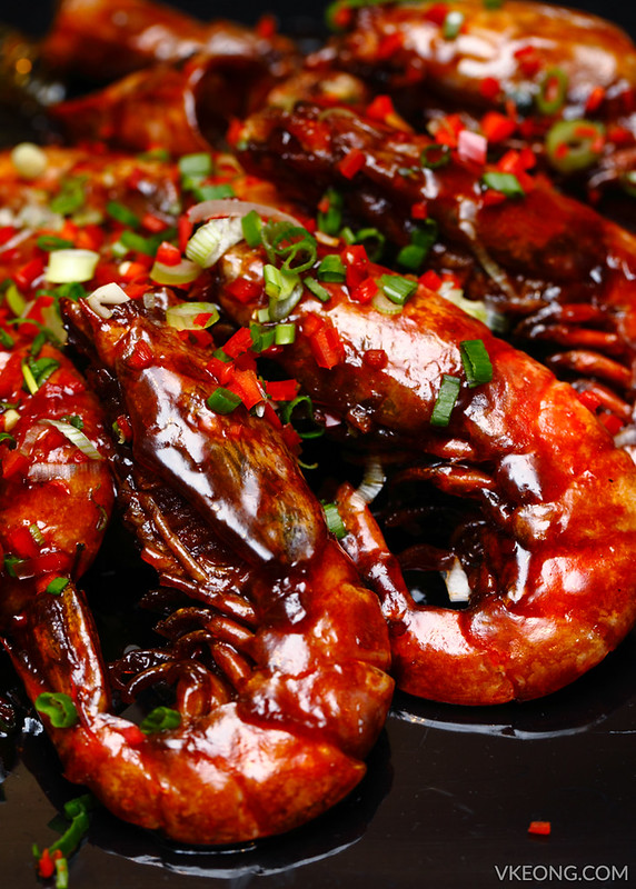 Pan Fried Marmite Prawns
