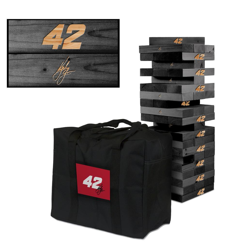 KYLE LARSON #42 Wooden Onyx Stained Tumble Tower Game (1)