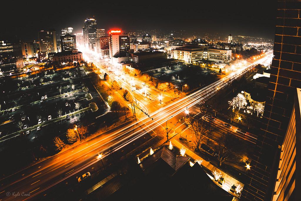Salt Lake City by Night