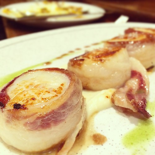 Scallops with a lardo cumber-belt #sansebastian | by browners82