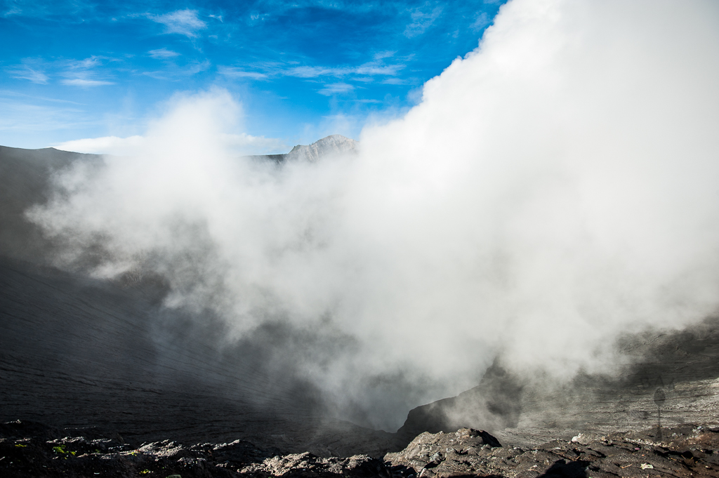 Inside Mt Bromo's crater