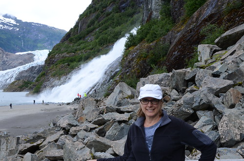 At the Mendenhall Glacier & Nugget Falls, Juneau, AK