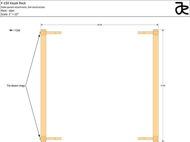 Kayak rack plans - rack plan