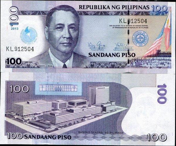 100 filipínskych piso Filipíny 2013, prítlač Iglesia Ni Cristo