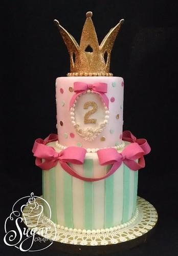 princess crown birthday cake  Rebecca Sutterby  Flickr