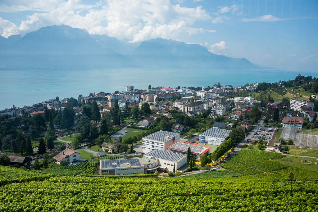 View along of Montreux