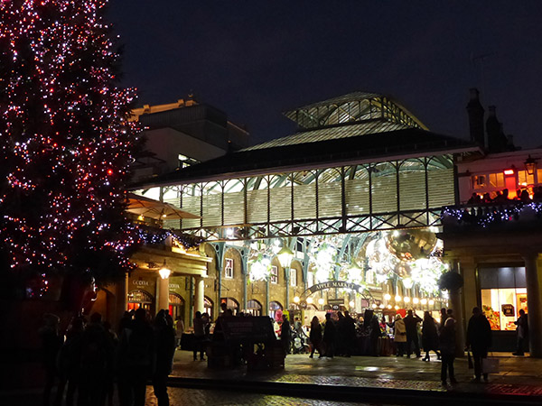 covent garden market at night