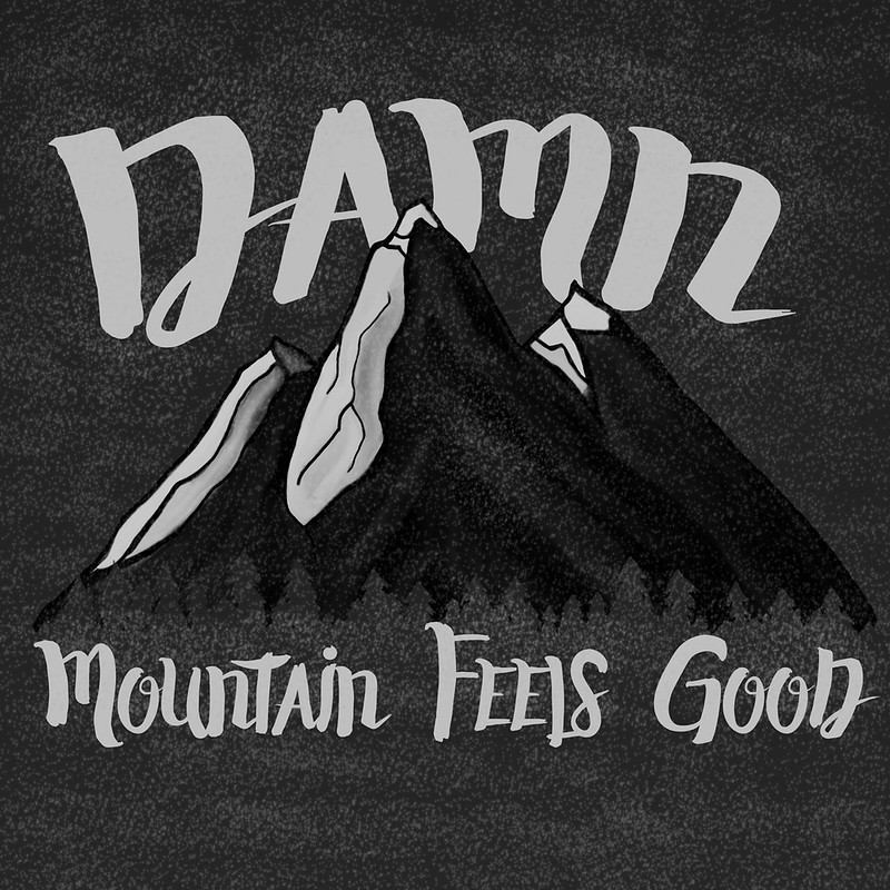 Mountain illustration dark