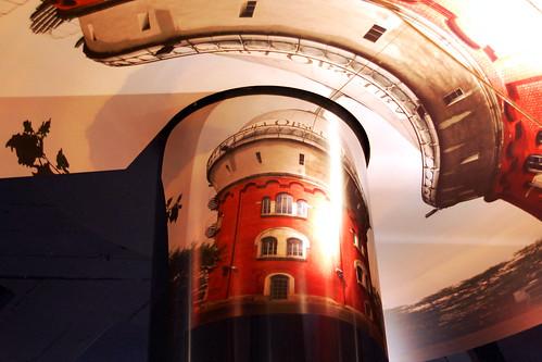"""Camera obscura ... Museum zur Vorgeschichte des Films ... Mülheim an der Ruhr ... Sonderausstellung 2011: """"Mit den Augen der Alten Meister"""" ... Fotografisch inszenierte Gemälde, Kunst und Fotografie ... Foto Museuminnenraum: Brigitte Stolle, Mannheim"""